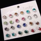 12 Pair Shiney Post Earrings Only .50 per set