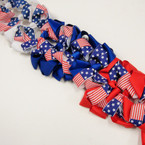 "5"" USA Theme Patriotic Election Gator Clip Bow .54 ea"