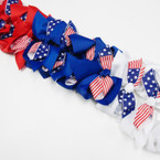 "5"" USA Theme Patriotic Election Gator Clip Bow (63) .54 ea"