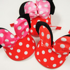 Sunvisor Mouse Ears w/ Poka Dot Bow 3 colors12 per pk $ 1.10 ea