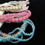 Multi Strand Beaded Fashion Bracelet Mixed Colors .52 ea