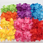 "2 Pk 3"" Colorful Summer Flower on Gator Clips .54 per set"