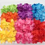 "2 Pk 3"" Colorful Summer Flower on Gator Clips .54 per set"