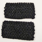 "2.5"" All Black Crochet Headwraps 11-2pks for $ 2.75"