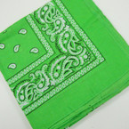 "21"" Square Bandana All Lime Green .50 ea"