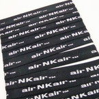 "CLOSEOUT 1"" Wide NK Air Print All Black Headbands  .10 ea"