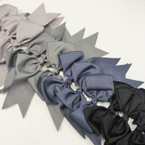 "6"" X 8"" Cheerleader Tail Bows on Gator Clip Mixed GrayTones .54 ea"