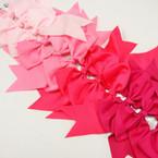"6"" X 8"" Cheerleader Tail Bows on Gator Clip Mixed Pink Tones .54 ea"