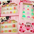 Kid's Cute Fashion Press On Nails  .54 per set