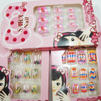 Kid's Cute Fashion Press On Nails (483)  .54 per set