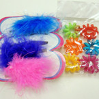 Mixed Pack 3 Pc Fury Jaw Clip & 6 Pc Ponytailers .15 per pack