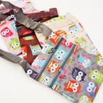 """5"""" X 6"""" 2 Zipper Side Bag w/ Strap Owl Pattern  .54 ea"""