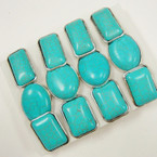 Chunky Turquoise Stone Rings 3 Styles .54 ea
