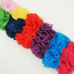 "6"" Chiffon Fabric Jaw Clip Bow Asst Colors  $ 1.00 ea"