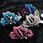 SPECIAL VALUE Black Wire Headband w/ Crystal Stones (66) 12 per bx $ 1.00