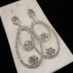"3"" Elegant Rhinestone DBL Oval Earring sold by pr $ 1.50 ea"