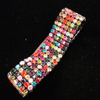 SPECIAL 6 Line Multi Color Crystal Stone Stretch Bracelet sold by pc $ 2.50 ea