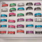 Stainless Colorful Band Ring w/ The Lord's Prayer 36 per .33 ea