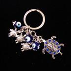 Great Value Turtle Keychain w/ Mini Turtle & Glass Eye Beads .54 ea