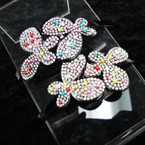 DBL Butterfly Headband w/ Crystals & Colored Beads .54 ea