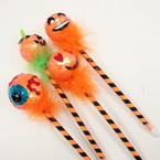 "9"" Halloween Theme Sequin Pumpkin Head Pens .55 ea"