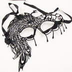 Black Lace Type Fashion Mask (55)  .54 ea