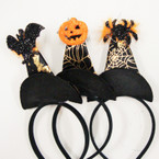 3 Style Halloween Witch's Hat Headbands .58 ea