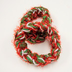 Lg. Size Christmas Color Tinsel Hair Twisters 12 per pk .45 each