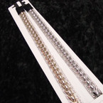 Popular Gold & Silver Headband w/ Crystal Stone Edge .54 ea