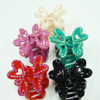 Fashionable Claw Clip w/ Shiney Stones Asst Colors .50 ea