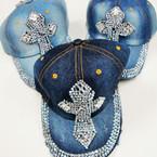 Best Quality Stone Denium Baseball Caps Cross Style 3 per pk $ 4.00 ea