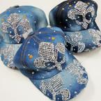 Best Quality Stone Denium Baseball Caps Fleur De Lis Style 3 per pk $ 4.00 ea