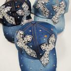 Best Quality Stone Denium Baseball Caps DBL Cross Style 3 per pk $ 4.00 ea