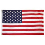 US Flag Printed  3ft x 5ft with Grommets SOLD BY PC $ 2.50 ea