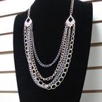 """28"""" Multi Chain Fashion Necklace w/ Colored Strand .56 ea"""