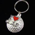 Cast Silver I Love Golf Keychains 21 pk .50 ea