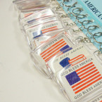"2.25"" God Bless America Keychains 12 pc pk .25 ea"