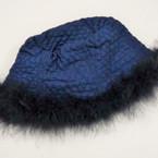 CLOSEOUT Navy Color Quilted Hat w/ Faux Fur 2 pc pk $ 1.00 ea