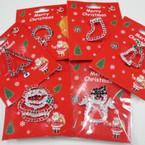 6 Style Christmas Pins 6 per pk .50 ea