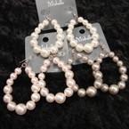 Closeout Pearl Fashion Earring Asst Colors .25 ea