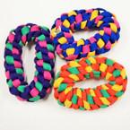 Multi Color Shoelace Style Hair Twisters 12 per pk .25 ea