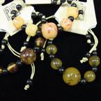Marble Bead Fashion Cord Bracelet 3 colors  .50 ea