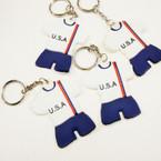 "2.5"" Team USA Silicone Sport Keychains .25 ea"