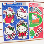 "Hello Kitty 12"" X 16"" Christmas Window Clings 24 per bx .55 ea"