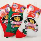 Kids Dora the Explorer Size 6-8 Christmas Socks .50 ea pr
