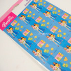 "6"" X 10"" Barbie Licensed Stocker Sheets 12 for $ 6.00"