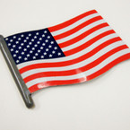 "5"" Resin Wavy USA Flag Anywhere Magnet 24 per bx .44 ea"
