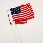 "4"" X 5.5"" USA Flag on 12"" Stick SALE PRICE  .49 per dz"