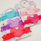 3 Pack Mouse Ear Theme Baby Stretch Headbands .54 per set
