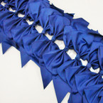 "6"" X 8"" Cheerleader Tail Bows on Gator Clip Dark Navy Blue .54 ea"